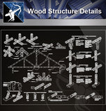 【Wood Constructure Details】Wood Structure Details (Recommand) - Architecture Autocad Blocks,CAD Details,CAD Drawings,3D Models,PSD,Vector,Sketchup Download