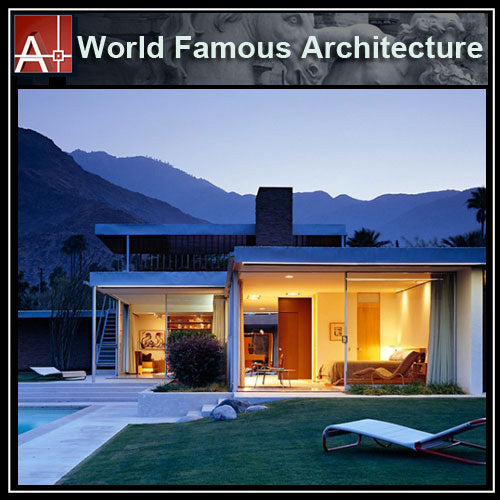 【Famous Architecture Project】Kaufumann Desert House-Richard Neutra in 1946-CAD Drawings