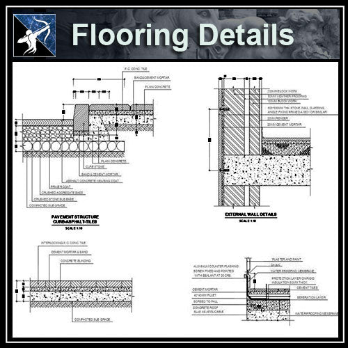 ★Free CAD Details-Flooring Details - Architecture Autocad Blocks,CAD Details,CAD Drawings,3D Models,PSD,Vector,Sketchup Download