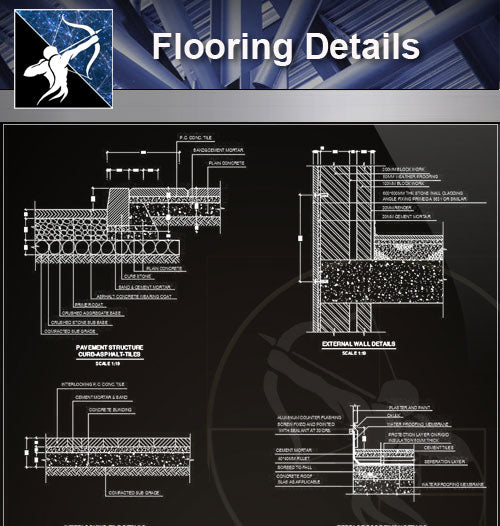 【Free Floor Details】Flooring Details - Architecture Autocad Blocks,CAD Details,CAD Drawings,3D Models,PSD,Vector,Sketchup Download