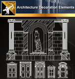 ★Architectural Decorative CAD Elements 03 - Architecture Autocad Blocks,CAD Details,CAD Drawings,3D Models,PSD,Vector,Sketchup Download