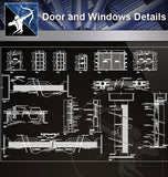 【Door Details】Door and Windows Details - Architecture Autocad Blocks,CAD Details,CAD Drawings,3D Models,PSD,Vector,Sketchup Download