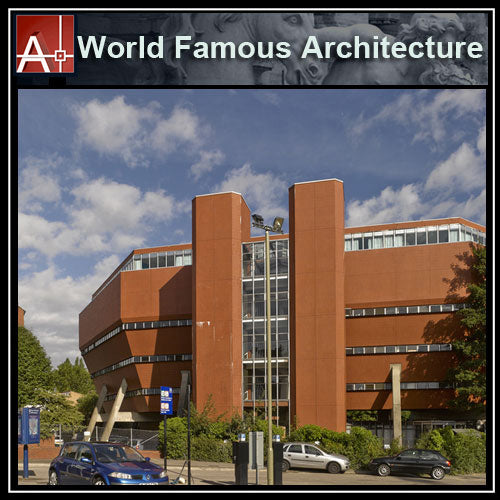 【Famous Architecture Project】University of Leicester-James Stirling-Architectural CAD Drawings - Architecture Autocad Blocks,CAD Details,CAD Drawings,3D Models,PSD,Vector,Sketchup Download