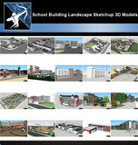 ★Best 20 Types of School Sketchup 3D Models Collection V.5 - Architecture Autocad Blocks,CAD Details,CAD Drawings,3D Models,PSD,Vector,Sketchup Download