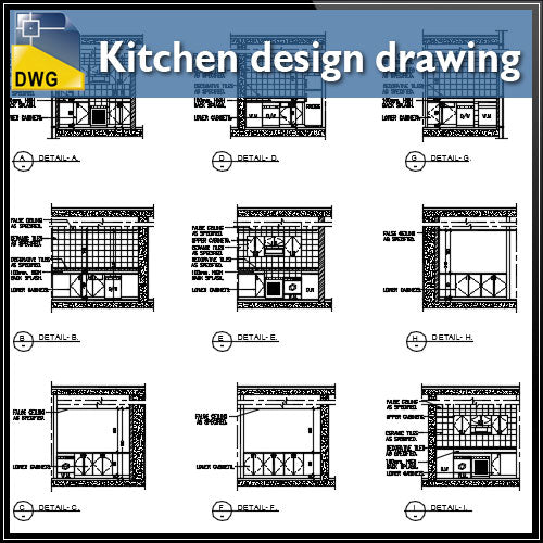 【CAD Details】Detail drawing of Kitchen Design CAD Drawing