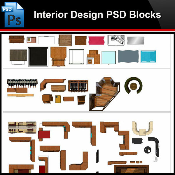★Photoshop PSD Blocks-Interior Design PSD Blocks -Cabinet PSD Blocks - Architecture Autocad Blocks,CAD Details,CAD Drawings,3D Models,PSD,Vector,Sketchup Download