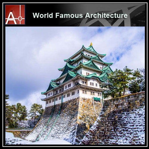 【Famous Architecture Project】Nagoya Castle Sketchup 3D model-Architectural 3D SKP model - Architecture Autocad Blocks,CAD Details,CAD Drawings,3D Models,PSD,Vector,Sketchup Download