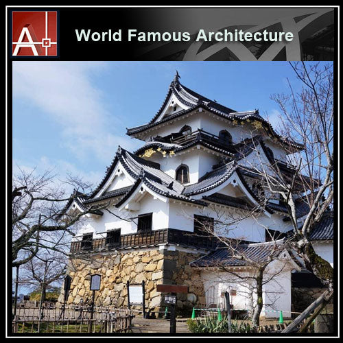 【Famous Architecture Project】Hikone Castle Sketchup 3D model-Architectural 3D SKP model - Architecture Autocad Blocks,CAD Details,CAD Drawings,3D Models,PSD,Vector,Sketchup Download