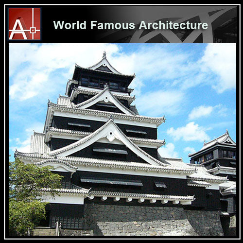 【Famous Architecture Project】Kuma Castle Sketchup 3D model-Architectural 3D SKP model - Architecture Autocad Blocks,CAD Details,CAD Drawings,3D Models,PSD,Vector,Sketchup Download