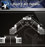 【Roof Details】Free Roof Details 3 - Architecture Autocad Blocks,CAD Details,CAD Drawings,3D Models,PSD,Vector,Sketchup Download