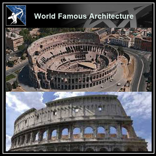 【World Famous Architecture CAD Drawings】Roman Coliseum CAD 3D model