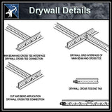 【Architecture Details】Drywall Details - Architecture Autocad Blocks,CAD Details,CAD Drawings,3D Models,PSD,Vector,Sketchup Download
