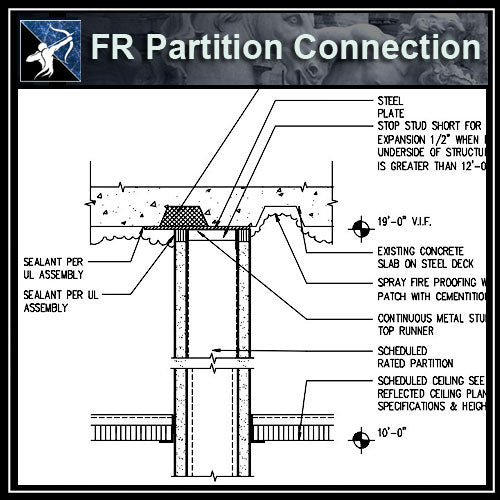 ★Free CAD Details-FR Partition Connection @ Deck - Architecture Autocad Blocks,CAD Details,CAD Drawings,3D Models,PSD,Vector,Sketchup Download