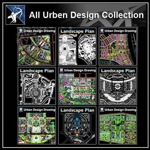 ★【All Urban Design CAD Drawings Collection】(Best Recommanded!!) - Architecture Autocad Blocks,CAD Details,CAD Drawings,3D Models,PSD,Vector,Sketchup Download