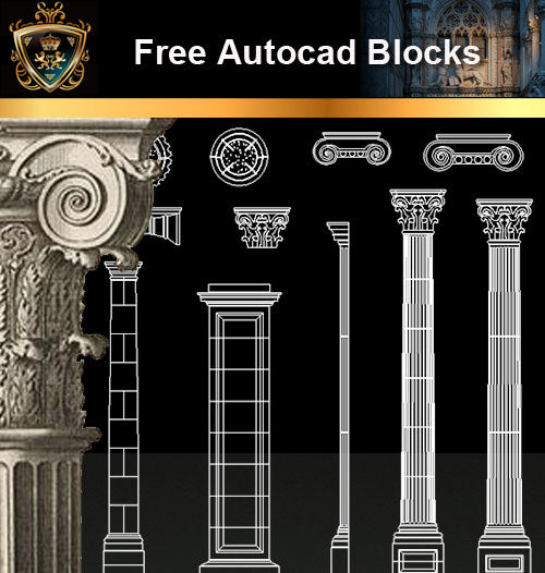★Free CAD Blocks-Architecture Decorative Elements V.16 - Architecture Autocad Blocks,CAD Details,CAD Drawings,3D Models,PSD,Vector,Sketchup Download