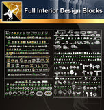 ★Full Interior Design Blocks 7 - Architecture Autocad Blocks,CAD Details,CAD Drawings,3D Models,PSD,Vector,Sketchup Download
