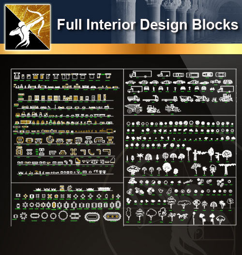 ★Full Interior Design Blocks 7