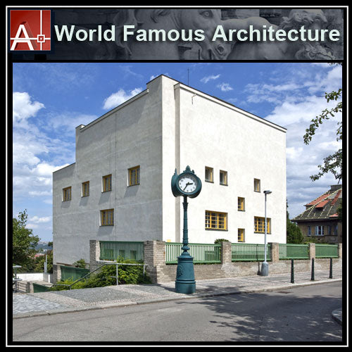 【Famous Architecture Project】Villa Muller-Adolf Loos-Architectural CAD Drawings