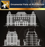 Ornamental Parts of Architecture 4 - Architecture Autocad Blocks,CAD Details,CAD Drawings,3D Models,PSD,Vector,Sketchup Download