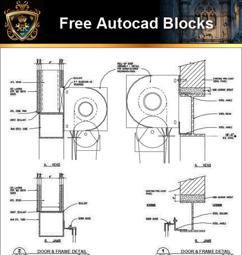 ★Free CAD Details-Door Details - Architecture Autocad Blocks,CAD Details,CAD Drawings,3D Models,PSD,Vector,Sketchup Download
