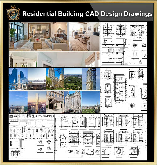 ★【Residential Building CAD Details Collection V.2】Layout,Lobby,Room design,Public facilities,Counter@Autocad Blocks,Drawings,CAD Details,Elevation
