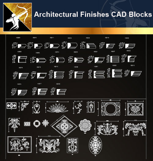 Architectural Finishes CAD Blocks Bundle - Architecture Autocad Blocks,CAD Details,CAD Drawings,3D Models,PSD,Vector,Sketchup Download