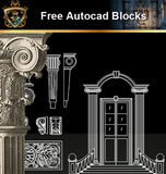 ★Free CAD Blocks-Architecture Decorative Elements V.17 - Architecture Autocad Blocks,CAD Details,CAD Drawings,3D Models,PSD,Vector,Sketchup Download