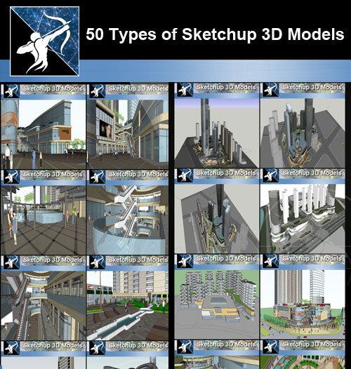 ★Best 50 Types of City Design,Commercial Building Sketchup 3D Models Collection(Recommanded!!) - Architecture Autocad Blocks,CAD Details,CAD Drawings,3D Models,PSD,Vector,Sketchup Download