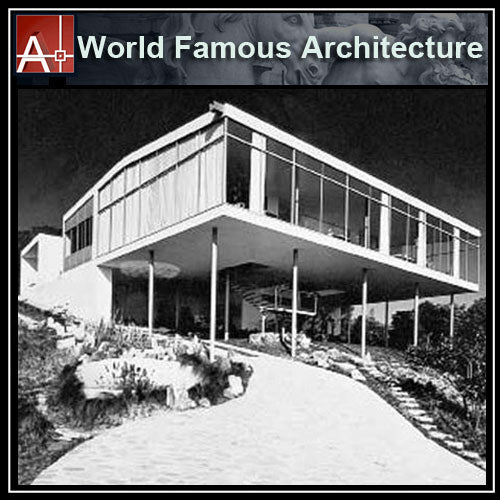 【Famous Architecture Project】Casa de Vidrio - Lina Bo Bardi-Architectural CAD Drawings - Architecture Autocad Blocks,CAD Details,CAD Drawings,3D Models,PSD,Vector,Sketchup Download