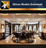 ★Download 3D Max Decoration Models -Dining Room V.11 - Architecture Autocad Blocks,CAD Details,CAD Drawings,3D Models,PSD,Vector,Sketchup Download