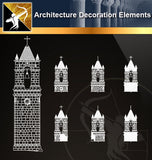Free CAD Architecture Decoration Elements 17 - Architecture Autocad Blocks,CAD Details,CAD Drawings,3D Models,PSD,Vector,Sketchup Download