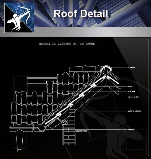 【Roof Details】Free Roof Details 5 - Architecture Autocad Blocks,CAD Details,CAD Drawings,3D Models,PSD,Vector,Sketchup Download
