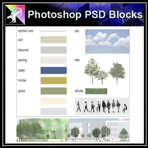 【Photoshop PSD Landscape Blocks】Landscape Plan,Elevation Blocks V.1(Recommanded!!) - Architecture Autocad Blocks,CAD Details,CAD Drawings,3D Models,PSD,Vector,Sketchup Download