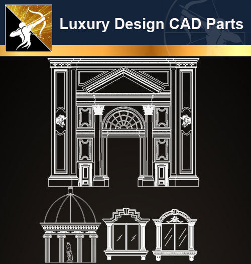 Luxury Design CAD Blocks 1 - Architecture Autocad Blocks,CAD Details,CAD Drawings,3D Models,PSD,Vector,Sketchup Download