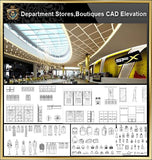 ★【Shopping Centers,Store CAD Design Elevation,Details Elevation Bundle】V.3@Shopping centers, department stores, boutiques, clothing stores, women's wear, men's wear, store design-Autocad Blocks,Drawings,CAD Details,Elevation - Architecture Autocad Blocks,CAD Details,CAD Drawings,3D Models,PSD,Vector,Sketchup Download