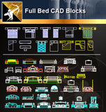★Full Bed Blocks - Architecture Autocad Blocks,CAD Details,CAD Drawings,3D Models,PSD,Vector,Sketchup Download