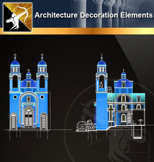 Free CAD Architecture Decoration Elements 18 - Architecture Autocad Blocks,CAD Details,CAD Drawings,3D Models,PSD,Vector,Sketchup Download