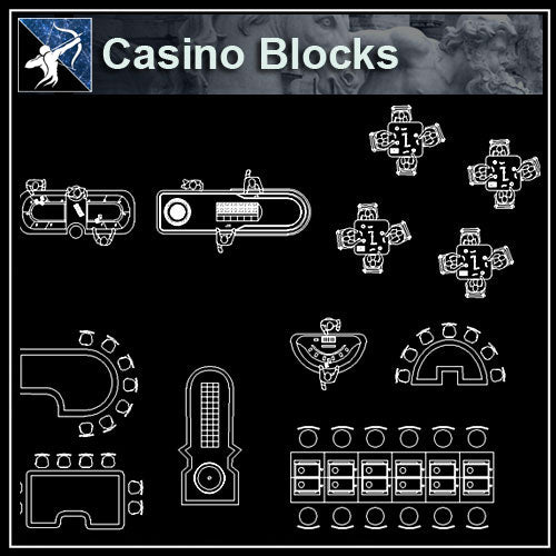 【Architecture CAD Projects】Casino CAD plans ,CAD Blocks