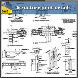 【CAD Details】Structure joint CAD Details - Architecture Autocad Blocks,CAD Details,CAD Drawings,3D Models,PSD,Vector,Sketchup Download