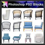 【Photoshop PSD Blocks】Sofa PSD Blocks - Architecture Autocad Blocks,CAD Details,CAD Drawings,3D Models,PSD,Vector,Sketchup Download