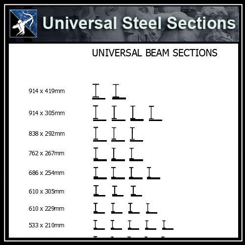 ★Free CAD Details-Universal Steel Sections 1 - Architecture Autocad Blocks,CAD Details,CAD Drawings,3D Models,PSD,Vector,Sketchup Download