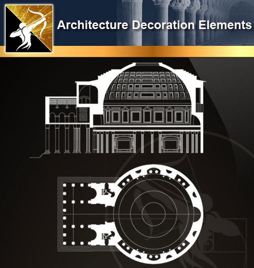 Free CAD Architecture Decoration Elements 19 - Architecture Autocad Blocks,CAD Details,CAD Drawings,3D Models,PSD,Vector,Sketchup Download