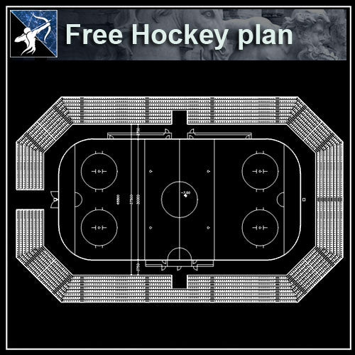 【Architecture CAD Projects】Hockey field CAD plans ,CAD Blocks - Architecture Autocad Blocks,CAD Details,CAD Drawings,3D Models,PSD,Vector,Sketchup Download