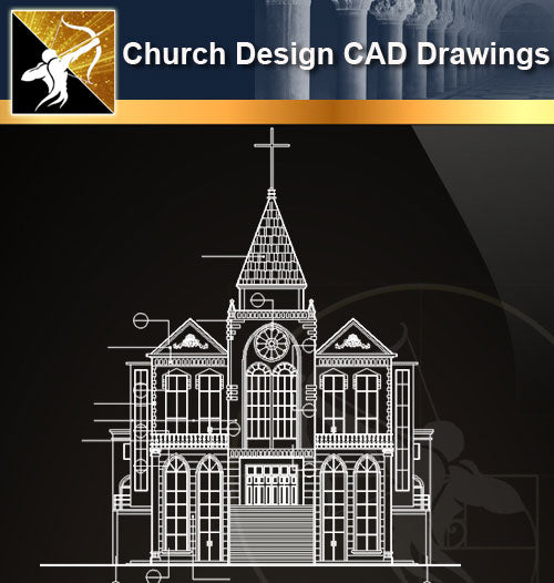 Church Design CAD Drawings 1 - Architecture Autocad Blocks,CAD Details,CAD Drawings,3D Models,PSD,Vector,Sketchup Download