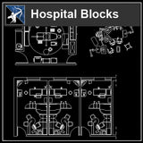 【Architecture CAD Projects】Hospital CAD Blocks and Plans - Architecture Autocad Blocks,CAD Details,CAD Drawings,3D Models,PSD,Vector,Sketchup Download