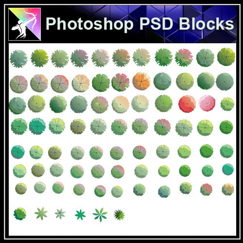 Photoshop PSD Landscape Tree Blocks - Architecture Autocad Blocks,CAD Details,CAD Drawings,3D Models,PSD,Vector,Sketchup Download