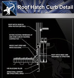 【Roof Details】Free Roof Hatch Curb Detail - Architecture Autocad Blocks,CAD Details,CAD Drawings,3D Models,PSD,Vector,Sketchup Download