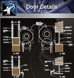 【Wood Constructure Details】Free Wood Door Details - Architecture Autocad Blocks,CAD Details,CAD Drawings,3D Models,PSD,Vector,Sketchup Download