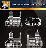 Ornamental Parts of Architecture 5 - Architecture Autocad Blocks,CAD Details,CAD Drawings,3D Models,PSD,Vector,Sketchup Download