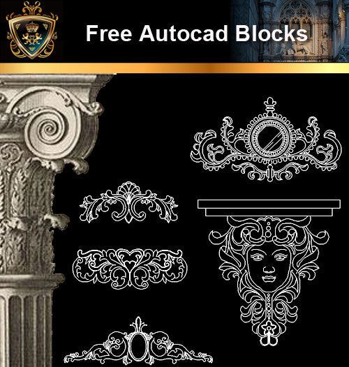 ★Free CAD Blocks-Architecture Decorative Elements V.4 - Architecture Autocad Blocks,CAD Details,CAD Drawings,3D Models,PSD,Vector,Sketchup Download